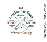 service station vintage label... | Shutterstock .eps vector #505769482