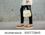 fashionable young woman in... | Shutterstock . vector #505772845