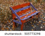 Park Bench Sprinkled With...
