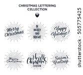 set of christmas   new year... | Shutterstock .eps vector #505775425