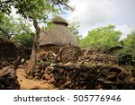 a traditional thatched hut in... | Shutterstock . vector #505776946