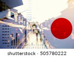 japan business economy concept... | Shutterstock . vector #505780222