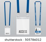 set of lanyard and badge.... | Shutterstock .eps vector #505786012