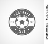 football club emblem flat icon... | Shutterstock .eps vector #505786282