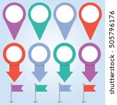 map pin colorful vector...   Shutterstock .eps vector #505796176