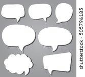white speech bubbles | Shutterstock .eps vector #505796185