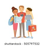 students traveling | Shutterstock .eps vector #505797532