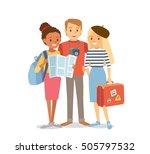 students traveling | Shutterstock .eps vector #505797532