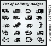 delivery sign icons   car icons ... | Shutterstock .eps vector #505798576