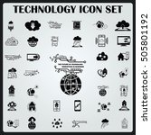 technology innovation icons set.... | Shutterstock .eps vector #505801192