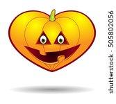 pumpkin jack halloween heart ...   Shutterstock .eps vector #505802056