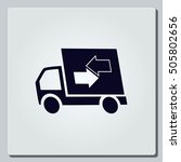 delivery sign icon  vector... | Shutterstock .eps vector #505802656