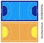 handball court isolated on white | Shutterstock .eps vector #505805056