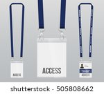 set of lanyard and badge.... | Shutterstock .eps vector #505808662