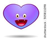 vampire halloween heart  vector ... | Shutterstock .eps vector #505811098