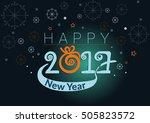 happy new year celebrations... | Shutterstock .eps vector #505823572