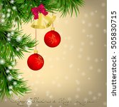 golden christmas and new year... | Shutterstock . vector #505830715