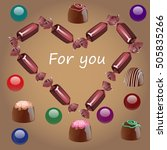 sweets as a gift for you | Shutterstock . vector #505835266