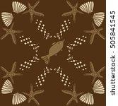 pattern of sea theme  halftone. | Shutterstock . vector #505841545