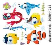 cute vector flat style... | Shutterstock .eps vector #505844218