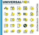 set of 25 universal editable... | Shutterstock .eps vector #505844566