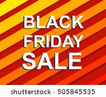 red striped sale poster with... | Shutterstock .eps vector #505845535