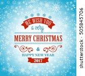 typographic retro christmas...   Shutterstock .eps vector #505845706