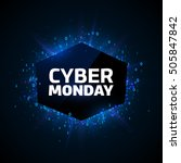 cyber monday promotion banner... | Shutterstock .eps vector #505847842