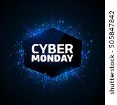 cyber monday promotion banner...   Shutterstock .eps vector #505847842