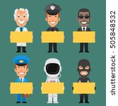 characters different... | Shutterstock .eps vector #505848532