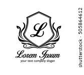 luxury logo | Shutterstock .eps vector #505864612