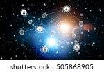social network communication... | Shutterstock . vector #505868905