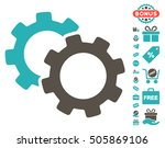 gears icon with free bonus...   Shutterstock .eps vector #505869106