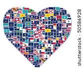 illustration of heart made from ...   Shutterstock . vector #50586928