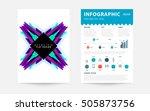 geometric background template... | Shutterstock .eps vector #505873756