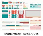 ui kit web elements flat design.... | Shutterstock .eps vector #505873945