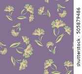 seamless floral pattern.... | Shutterstock .eps vector #505879486