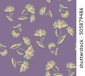 seamless floral pattern....   Shutterstock .eps vector #505879486