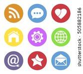 media icons set | Shutterstock . vector #505882186