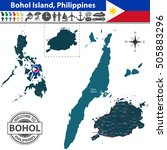 vector of bohol island ... | Shutterstock .eps vector #505883296