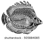 round ornamental fish | Shutterstock .eps vector #505884085