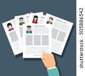 curriculum vitae  recruitment... | Shutterstock .eps vector #505886542