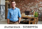 portrait of a casually dressed...   Shutterstock . vector #505889956