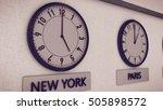 3d Rendering Of Clocks On Wall...