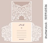 wedding invitation or greeting... | Shutterstock .eps vector #505910536