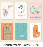 collection of cute artistic... | Shutterstock .eps vector #505918276