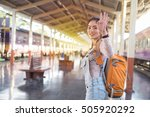 image walking down train... | Shutterstock . vector #505920292