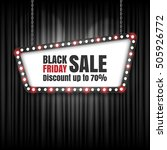 black friday sale retro sign.... | Shutterstock .eps vector #505926772