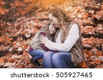 a young mother playing with her ... | Shutterstock . vector #505927465