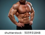 the torso of attractive male... | Shutterstock . vector #505931848